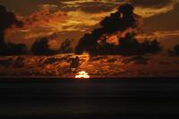 南の島の夕日