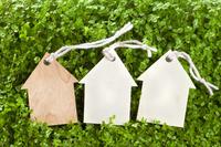 家型木製タグのエコイメージ