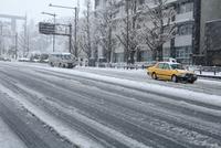 東京都心九段坂の雪景色