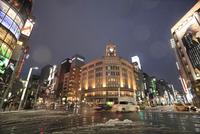 東京都心の雪景色