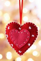 Heart shaped felt decoration