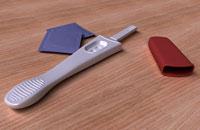 Pregnancy test and condoms
