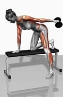 Dumbbell kickback exercise (Part 1 of 2)