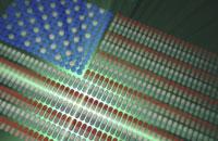 Multiple pills forming flag of USA 11037010328| 写真素材・ストックフォト・画像・イラスト素材|アマナイメージズ
