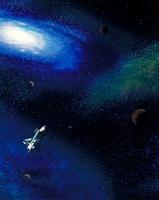 宇宙とスペースシャトル