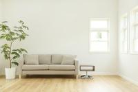 ソファーのあるシンプルモダンなリビングルーム