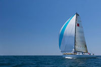 Yacht competes in team sailing event
