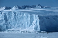 Antarctica Weddell Sea Riiser Larsen Ice Shelf Iceberg with