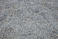 Close-up of fine gravel pile