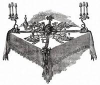 祝祭のテーブル(イラスト)