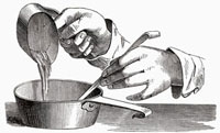 デザートを濃縮する(イラスト)