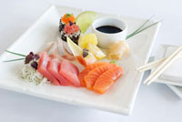 Sashimi platter (raw fish fillets,Japan) 11047027437| 写真素材・ストックフォト・画像・イラスト素材|アマナイメージズ