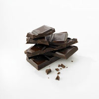 Pieces of chocolate�Cstacked