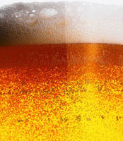 Frothy beer (detail)