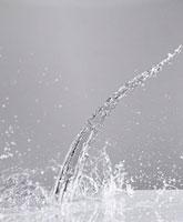 Water splashing on surface