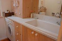 洗濯機のある洗面所
