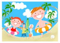 楽しい夏休み 11067000293  写真素材・ストックフォト・画像・イラスト素材 アマナイメージズ