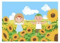 夏休みの子供 11067000294| 写真素材・ストックフォト・画像・イラスト素材|アマナイメージズ