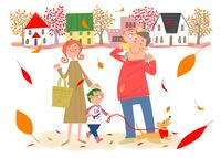 秋の日のお買い物 11067000301| 写真素材・ストックフォト・画像・イラスト素材|アマナイメージズ