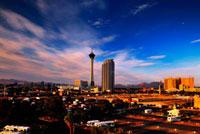 ラスベガスの夕焼け 11069004785| 写真素材・ストックフォト・画像・イラスト素材|アマナイメージズ