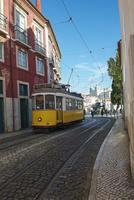 ケーブルカー、路面電車、サン・ヴィセンテ・デ・フォーラ修道院、リスボン、ポルトガル