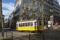 ケーブルカー、路面電車、リスボン、ポルトガル