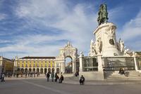 コメルシオ広場、ジョゼ1世騎馬像、リスボン、ポルトガル