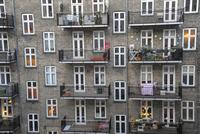 コペンハーゲンの窓の多い建物