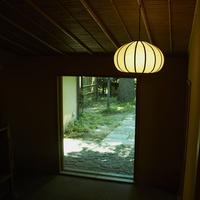 和室の照明と玄関