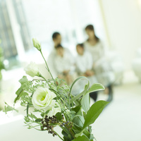 活けた花とファミリー