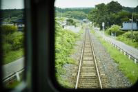 車窓から見る線路