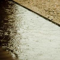 水たまりの波紋 11070017109| 写真素材・ストックフォト・画像・イラスト素材|アマナイメージズ