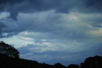 雲と森林のシルエット