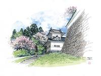 仙台城下町百景 大手門隅櫓(春)