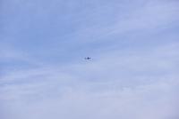 青空と旅客機