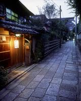 石堀小路の夕景