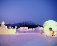 夜の小岩井雪祭り