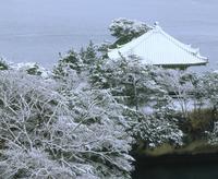 雪の松島五大堂