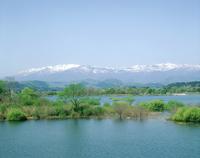 釜房湖と蔵王連峰