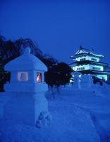 弘前雪灯篭祭り 11070023516  写真素材・ストックフォト・画像・イラスト素材 アマナイメージズ