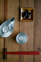 黒豆と日本酒