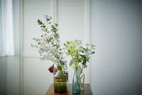 テーブルの上に飾った花