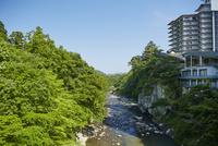 秋保温泉を流れる名取川 宮城県