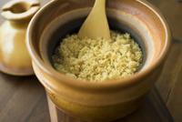土鍋で炊いた玄米