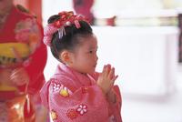 七五三和装の女の子 11070033953| 写真素材・ストックフォト・画像・イラスト素材|アマナイメージズ