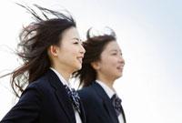 女子高校生2人のポートレート