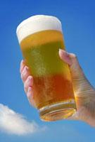 夏空とビール