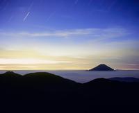 上河内岳より黎明の富士山