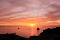 小笠原諸島母島 四本岩と夕焼け