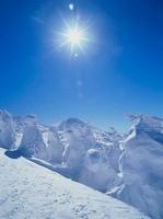 八甲田 田茂萢岳の樹氷と太陽